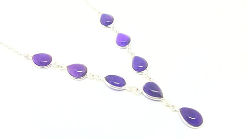 Amethyst Teardrop Set