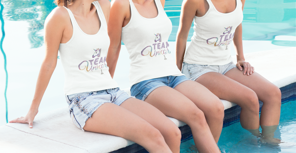 Unicorn Pool Pole Party - Team Unicorn Polepunzel Tank Top
