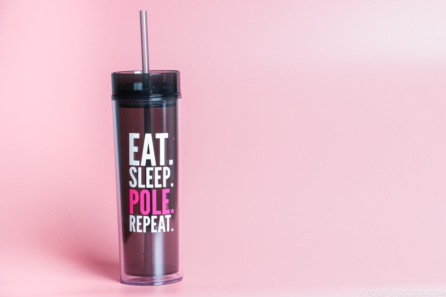 Unicorn Pool Pole Party - Custom Eat. Sleep. Pole. Repeat. 16oz Skinny Tumbler