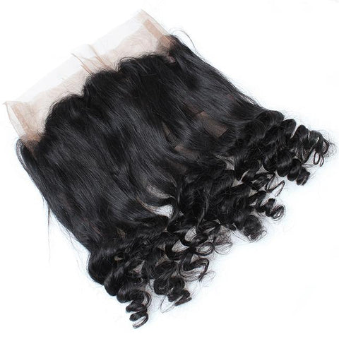 360° Lace Frontal 100% REMY Capelli Brasiliani Loose Wave