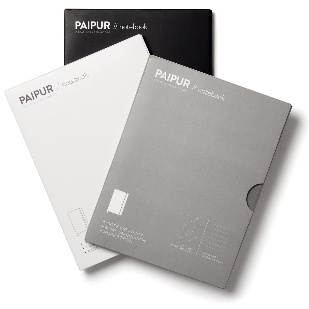 Hybrid Format Notebook - MONOCHROME SERIES - NARROW spacing 0.24 inch
