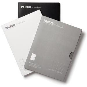 Hybrid Format Notebook - MONOCHROME SERIES - WIDE spacing 0.39 inch