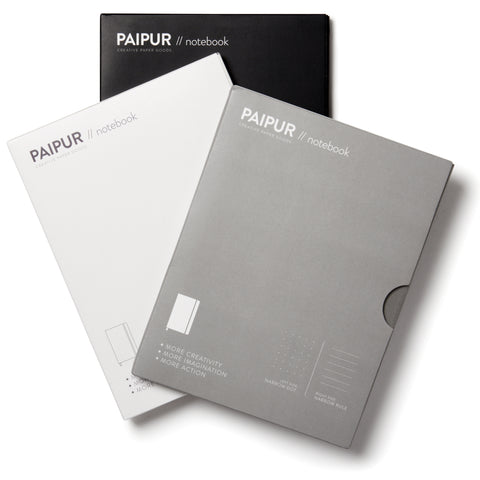 Image of Hybrid Format Notebook - MONOCHROME SERIES - NARROW spacing 0.24 inch