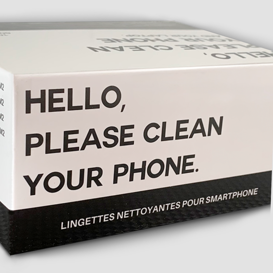 Hello, please clean your phone