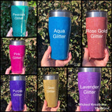 Stemless Wine Tumbler Glitter or Ink (3 sizes)