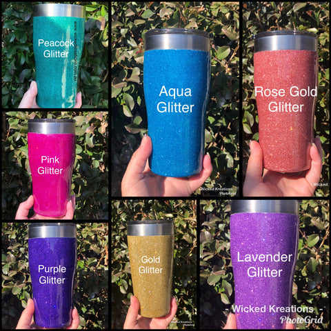 Personalised Glitter - Stainless Steel Travel Tumbler