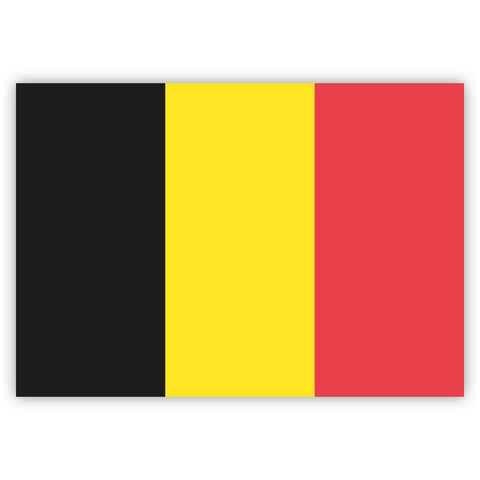 Belgian Flag Stickers by Gobrecht & Ulrich