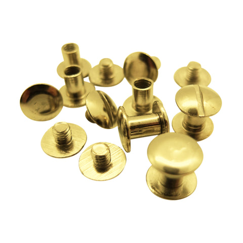 Brass / Gold-coloured Book Binding Screws by Gobrecht & Ulrich - 5 to 10mm length