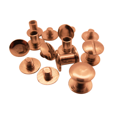 Copper / Rose-gold Book Binding Screws by Gobrecht & Ulrich - 5 to 10mm length