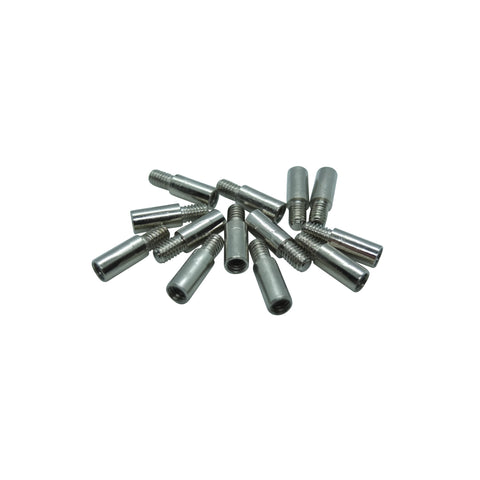Book Binding Screw Extensions - 10mm - Silver by Gobrecht & Ulrich