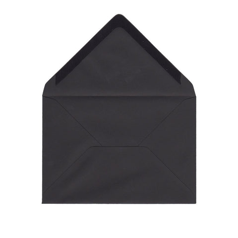 C6 Night Black Envelopes by Gobrecht & Ulrich - Open
