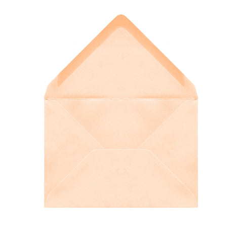 C6 Soft Peach Envelopes by Gobrecht & Ulrich - Front Open