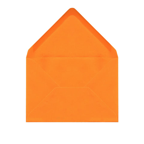 C6 Sunset Orange Envelopes by Gobrecht & Ulrich - Open