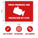 CCTV Camera Stickers with Dimensions by Gobrecht & Ulrich