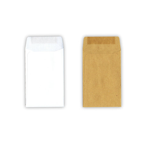 White and Brown Coin Envelopes / Seed Envelopes by Gobrecht & Ulrich in comparison