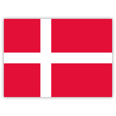 Danish Flag Stickers by Gobrecht & Ulrich