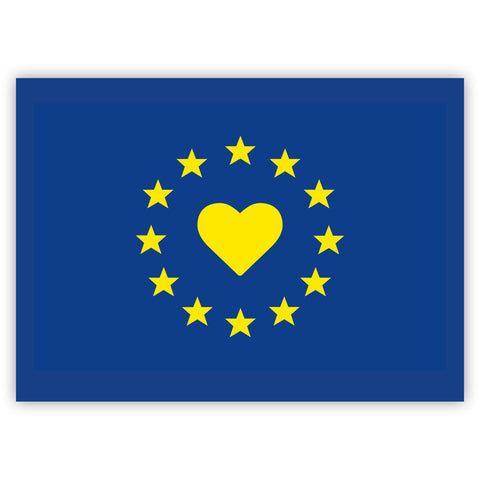 I love Europe Flag Stickers by Gobrecht & Ulrich