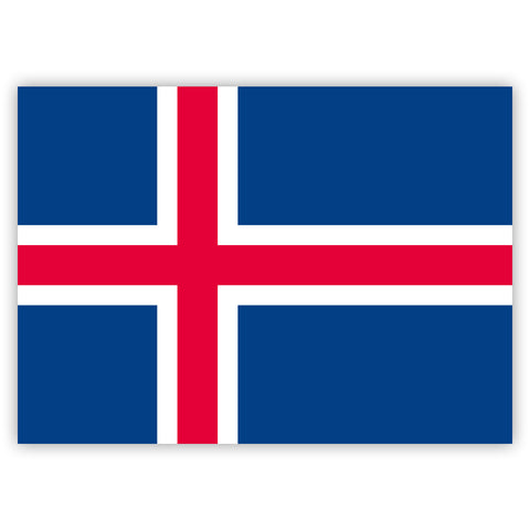 Icelandic Flag Stickers by Gobrecht & Ulrich