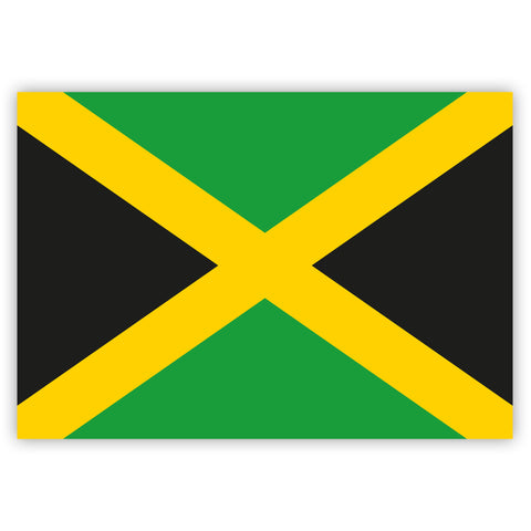 Jamaican Flag Stickers by Gobrecht & Ulrich