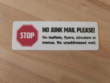 Medium No Junk Mail Sign on table - Junk Mail Blocker by Gobrecht & Ulrich
