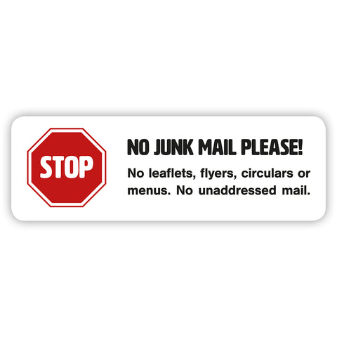 No Junk Mail Sign for Letterboxes - Junk Mail Blocker by Gobrecht & Ulrich
