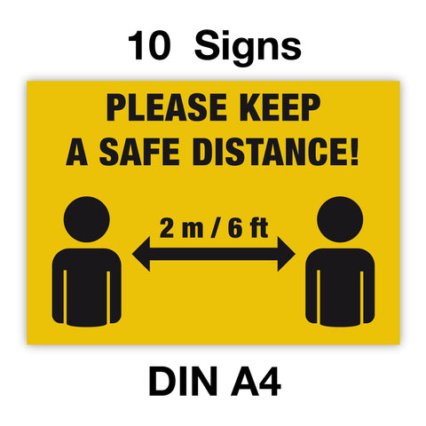 Please Keep A Safe Distance Sign by Gobrecht & Ulrich