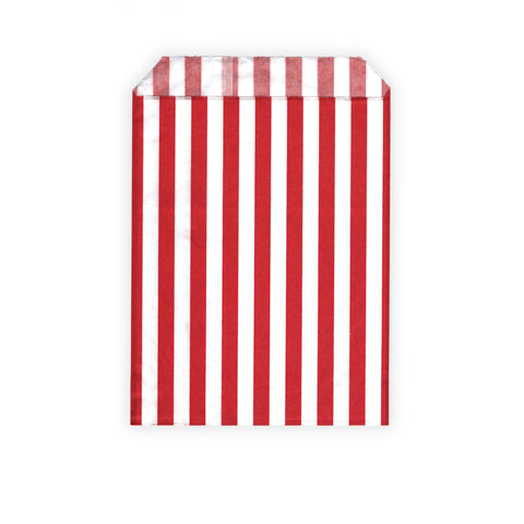Retro Candy Bags - Red / White Stripes - 13 x 18cm by Gobrecht & Ulrich
