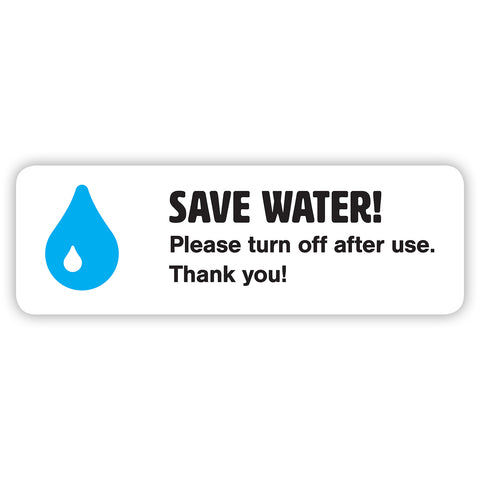 Save Water Sticker by Gobrecht & Ulrich