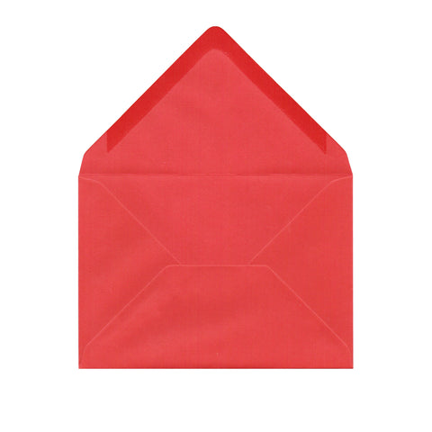 Smooth Red C6 Envelopes by Gobrecht & Ulrich - Open