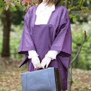 Purple see through Michiyuki,Japanese vintage kimono,womens haori