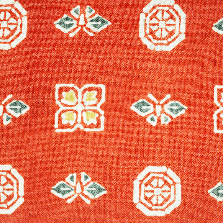Orange japanese retro modern pattern Dochugi