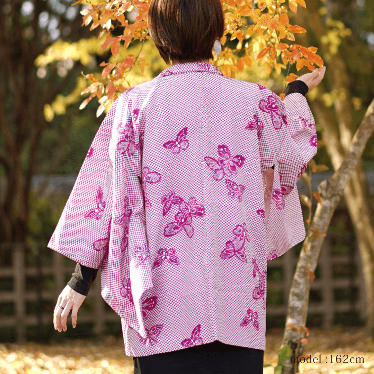 Purple butterfly haori