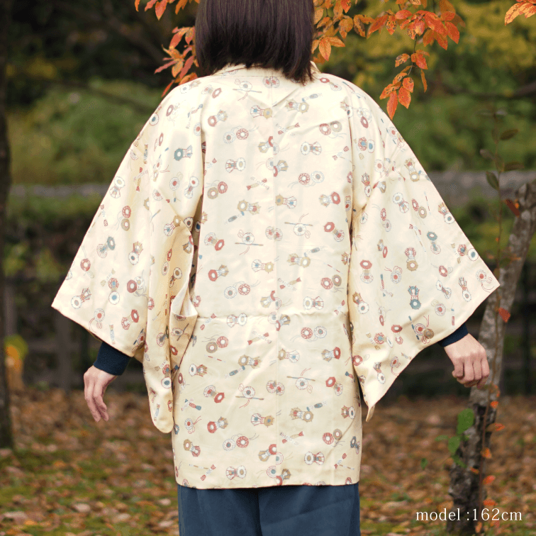Cute design yellow haori,Japanese kimono,womens haori