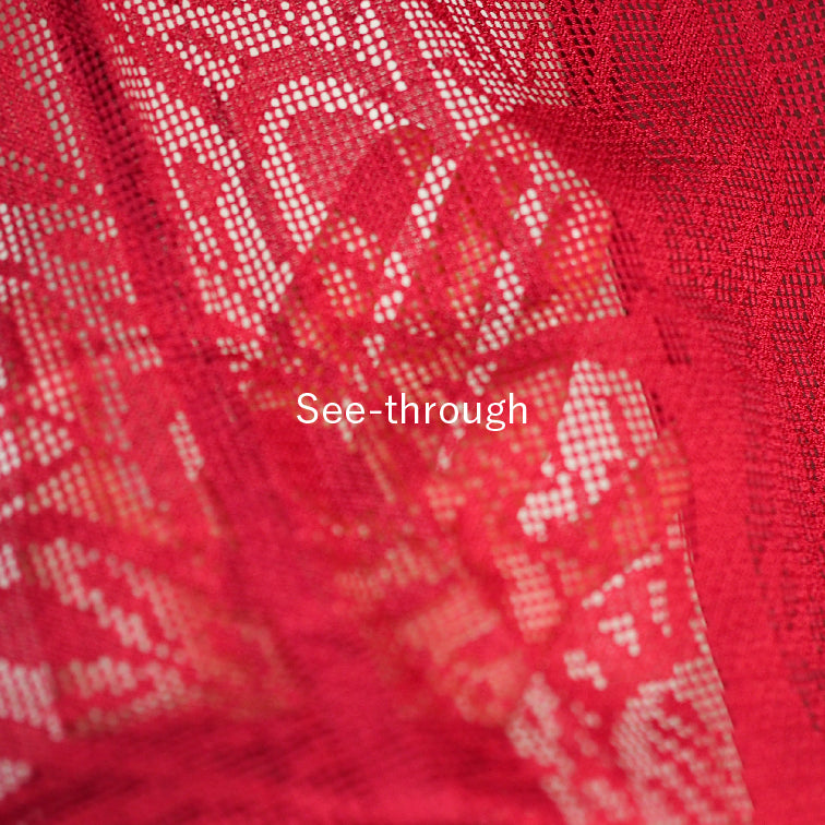 Red see throgh haori,Japanese kimono,womens haori