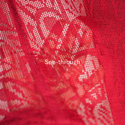 Red see through haori,Japanese vintage kimono,womens haori