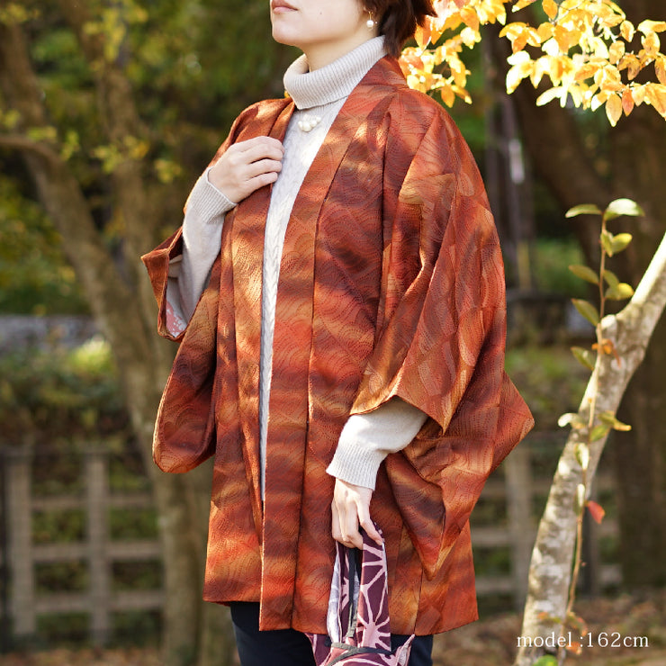 Blown beautiful design haori,Japanese vintage kimono,womens haori