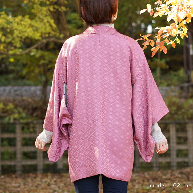 Purple pretty japanese design haori,Japanese kimono,womens haori