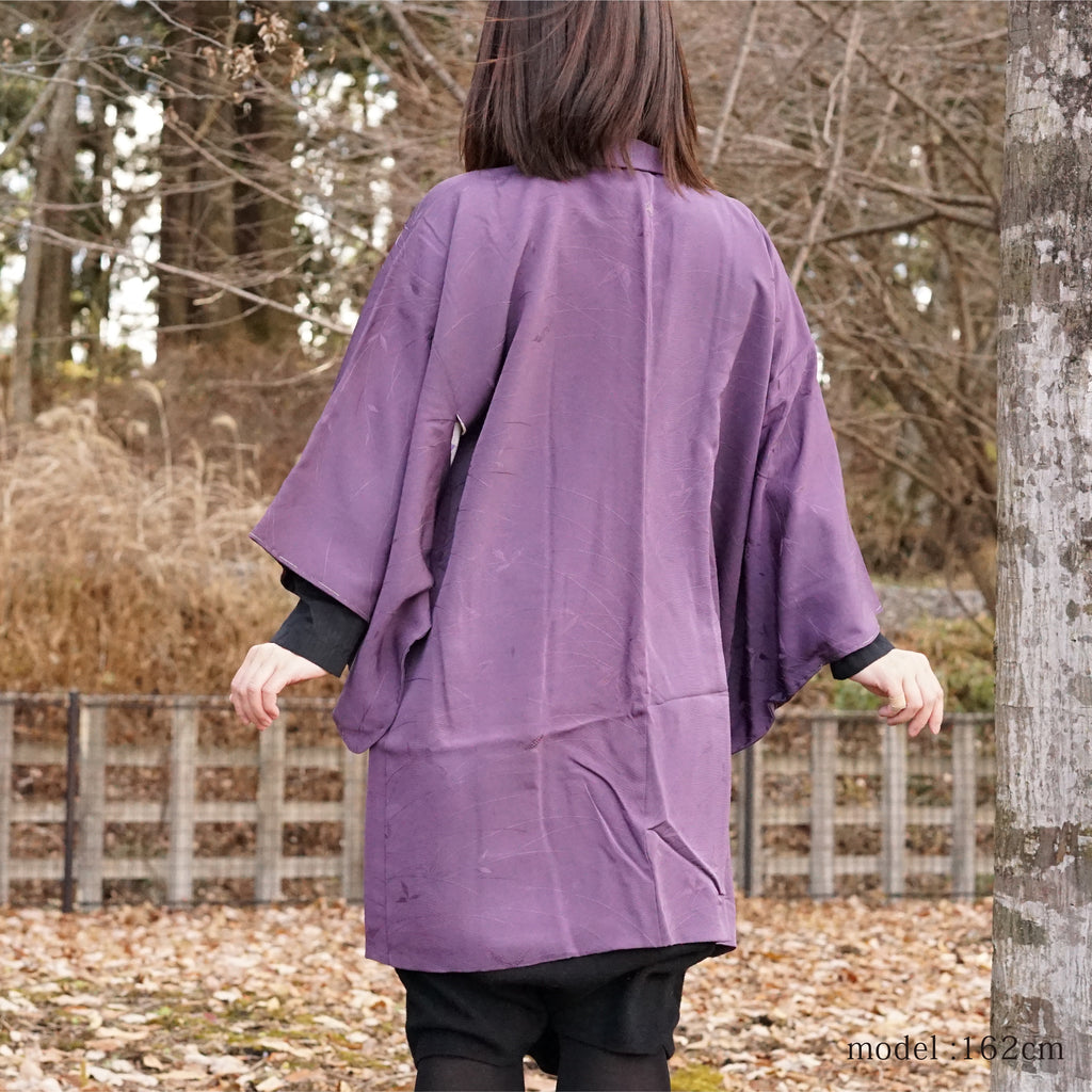 Feminine purple color haori ,Japanese kimono,womens haori