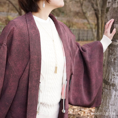 Red purple japanese haori,Japanese vintage kimono,womens haori