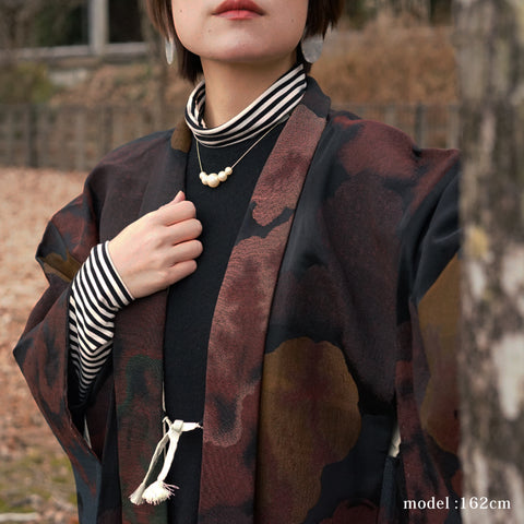 Brown modern pattern design haori,Japanese kimono,womens haori