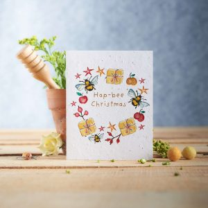 Plant a Card - Hap-bee Christmas (Parcels)