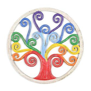 Rainbow Tree of Life Wall Plaque