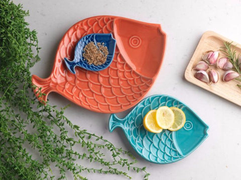 Set of 3 Ceramic Fish Dishes