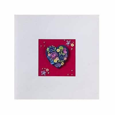 Navy Heart Brooch greetings card
