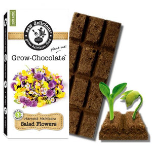 Sow Delicious - Salad Flowers Grow Chocolate