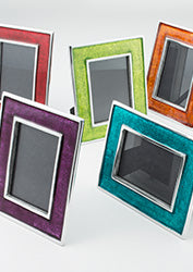 Recycled aluminium photo frame - 5 colours