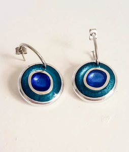 Organic Circles Collection - creole earrings