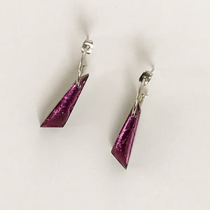 Rainbow Icicle creole earrings