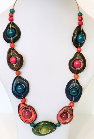 Chunky Tagua Nut Necklace - Choice of 2 colours