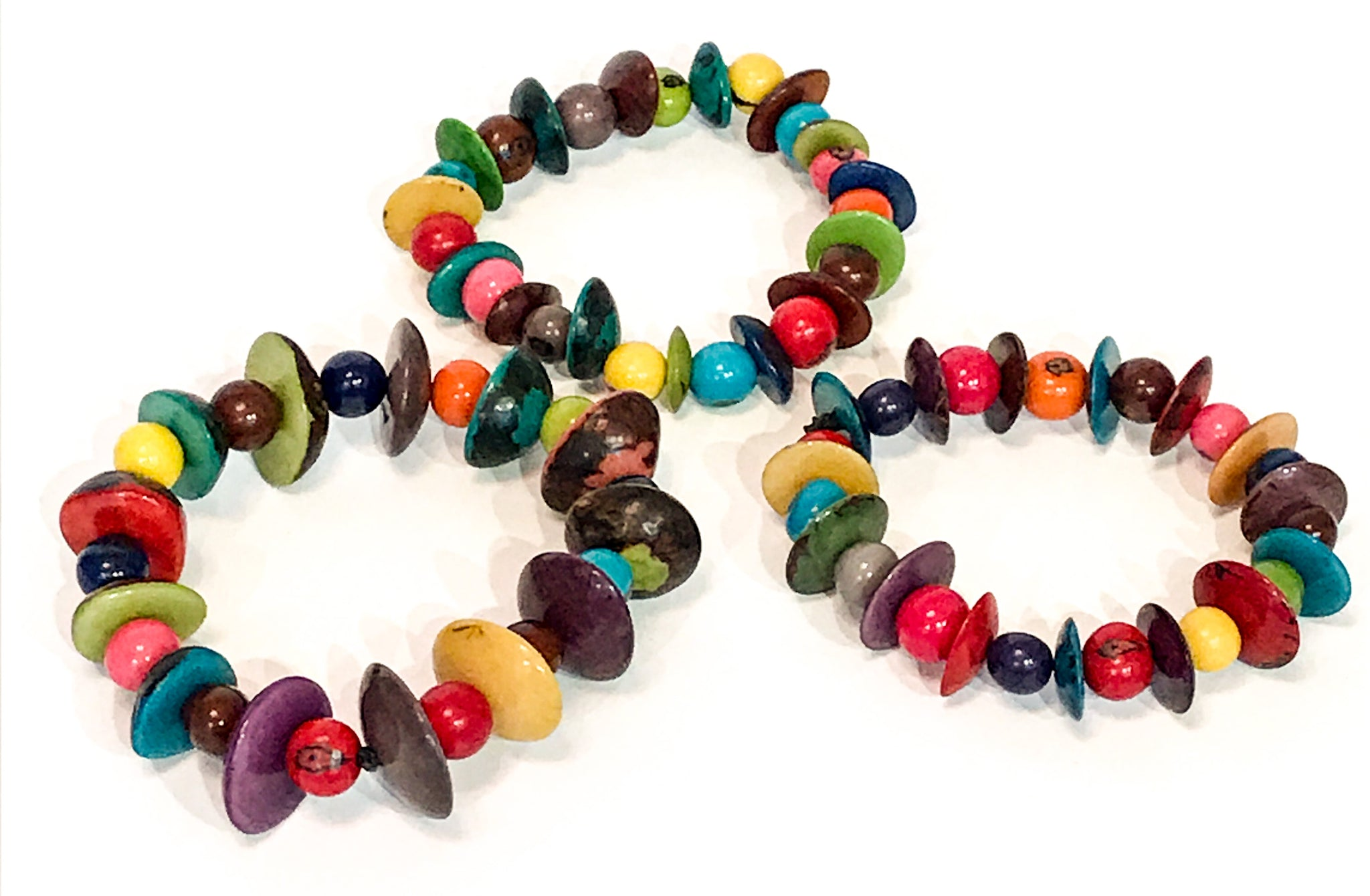Dots and Dashes Tagua Nut Bracelet